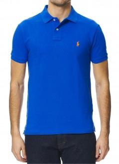 Polo Ralph Lauren Masculina Custom Fit Azul Bic