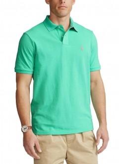 Polo Ralph Lauren Masculina Custom Fit Verde Água Sunset