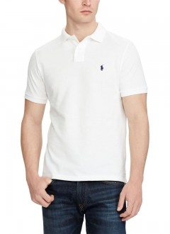 Polo Ralph Lauren Masculina Piquet Custom Fit Branco