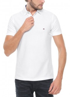 Polo Tommy Hilfiger Masculino Regular Fit Branca