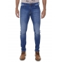 Calça Calvin Klein Jeans Skinny Strech Stonada CKJ 016 Azul Medio