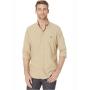 Camisa Ralph Lauren Masculina Custom Fit Classic Bege