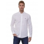 Camisa Ralph Lauren Masculina Custom Fit Lightweight Linho Branco