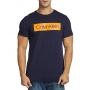 Camiseta Calvin Klein Jeans Masculina Regular Fit Lettering Azul Marinho