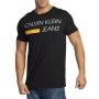 Camiseta Calvin Klein Jeans Masculina Regular Fit CKJ Logo Preto