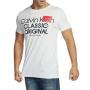 Camiseta Calvin Klein Jeans Regular Fit Classic 1968 Logo Branco