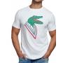 Camiseta Lacoste Live Masculina Big Crocodilo Branco