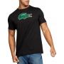 Camiseta Lacoste Live Masculina Big Crocodilo Velvet Preto