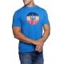 Camiseta Osklen Masculina Slim Stone Vintage Tridente Azul