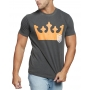Camiseta Osklen Slim Stone Vintage Big Crown Cinza Chumbo