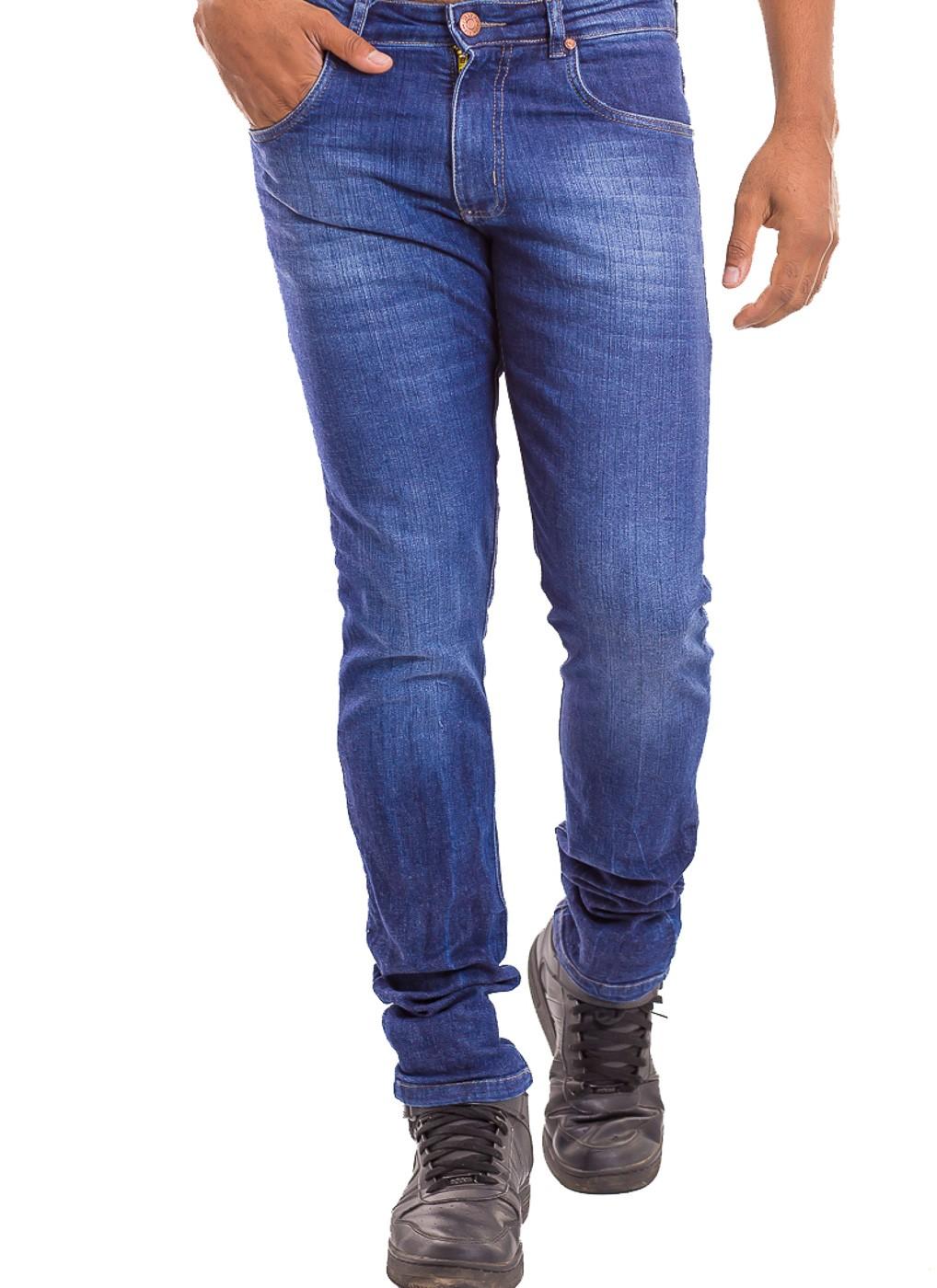 Calça Calvin Klein Jeans Masculina Skinny CKJ 016 Azul Escuro Stonada