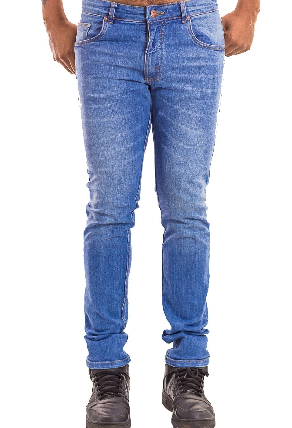 Calça Calvin Klein Jeans Masculina Skinny CKJ 016 Azul Medio
