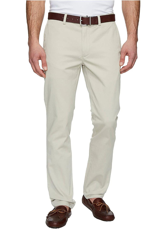 Calça Ralph Lauren de Sarja Chino Masculina Stretch Slim Fit Bege