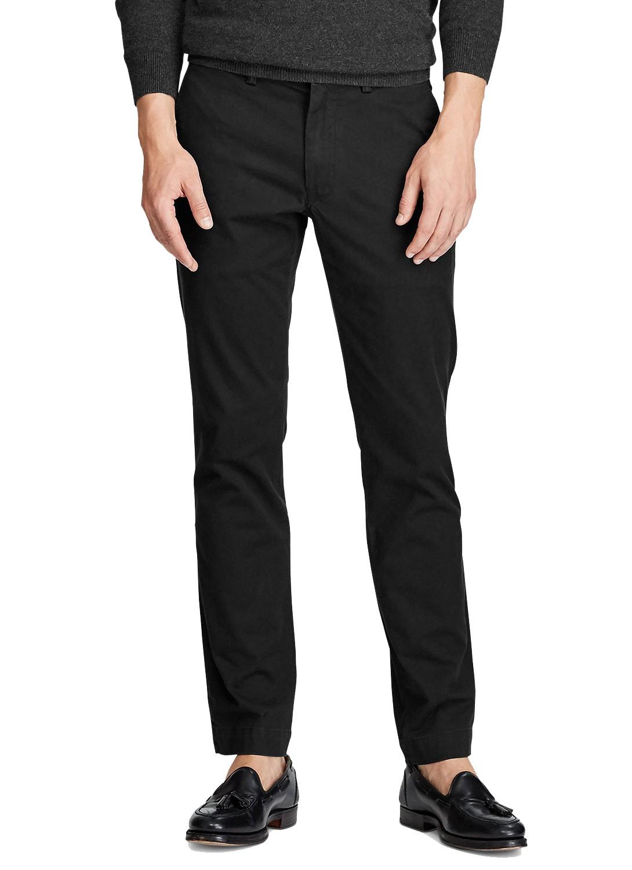 Calça Ralph Lauren de Sarja Masculina Chino Stretch Slim Fit Preto