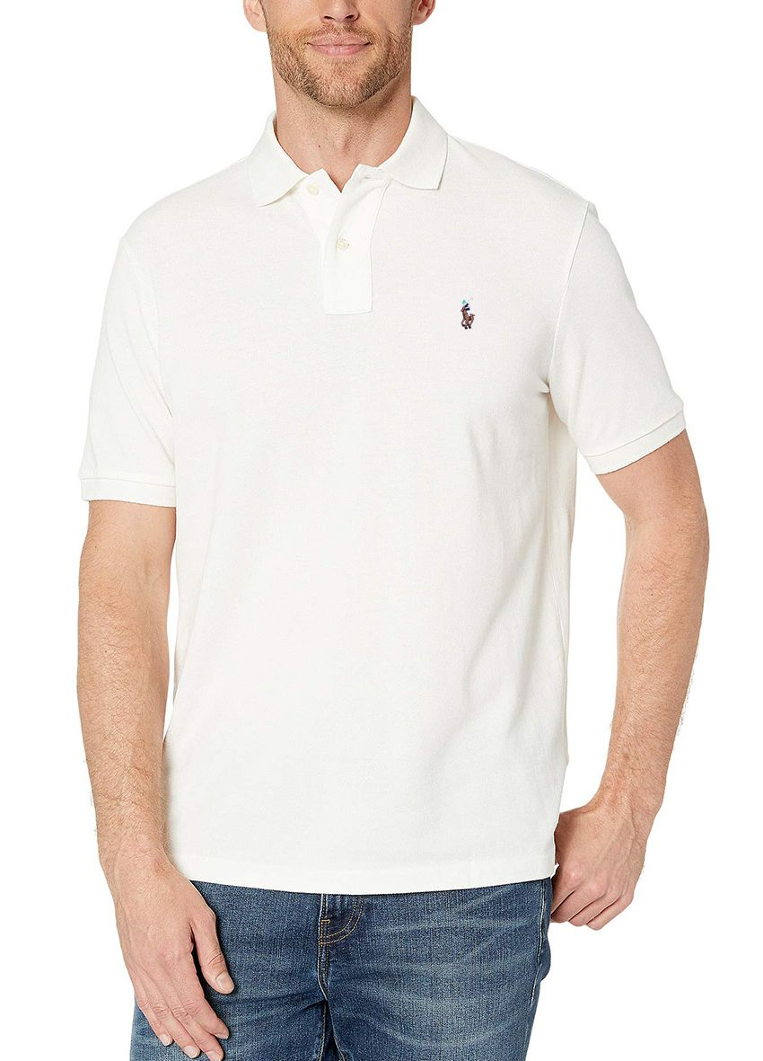 Polo Ralph Lauren Custom Fit Branca Colored Logo