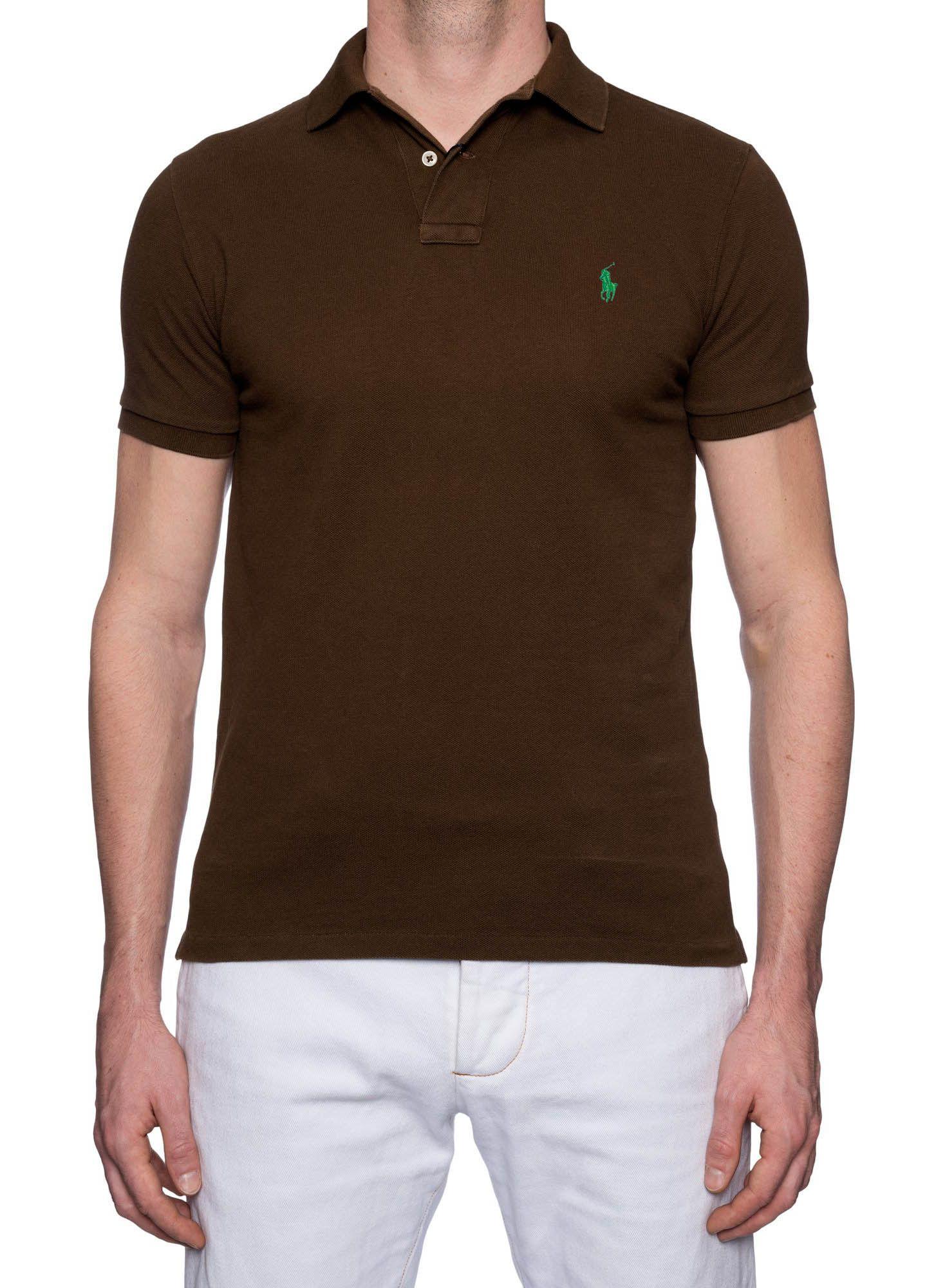 Polo Ralph Lauren Masculina Slim Fit Brown Logo