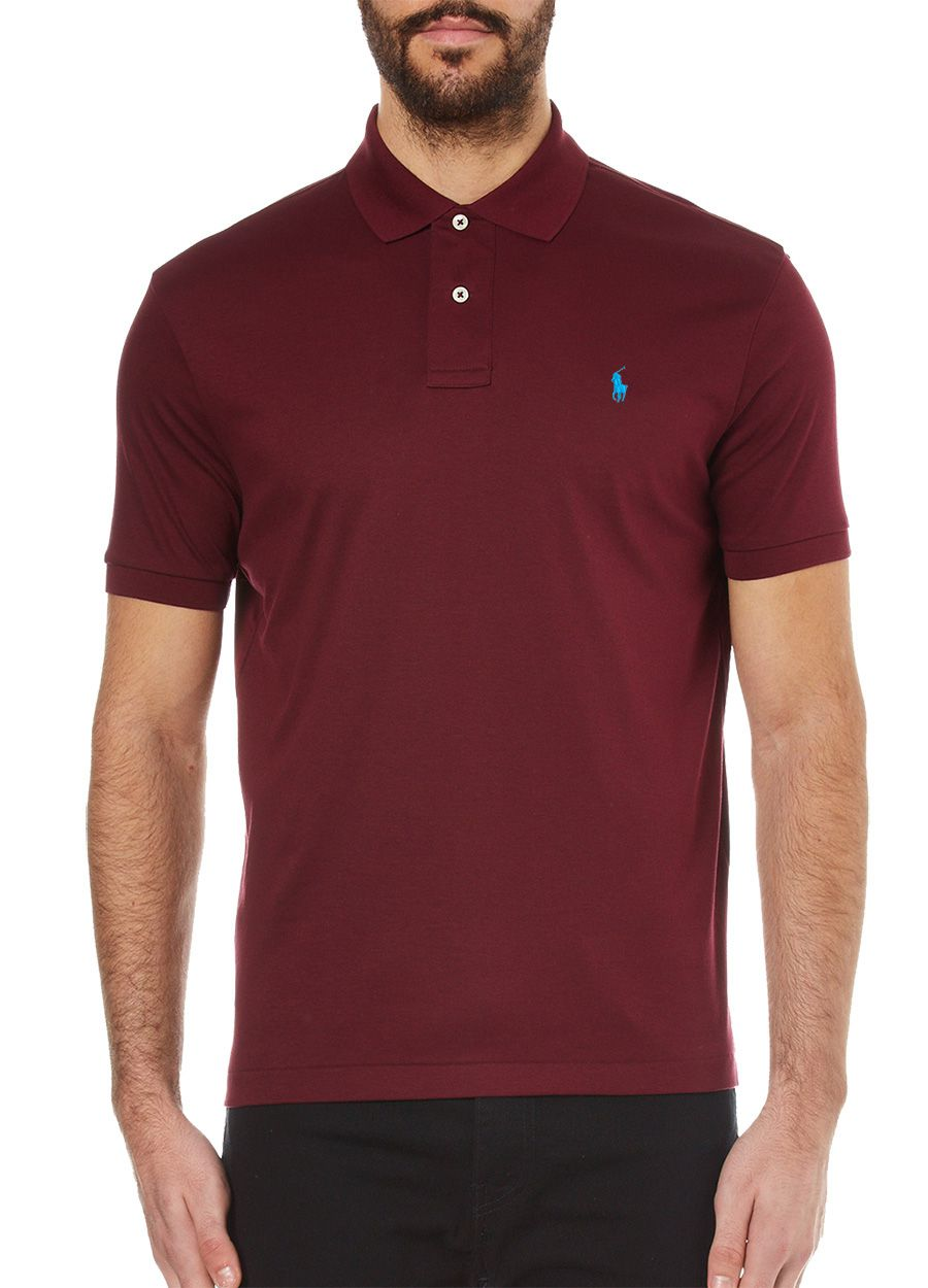 Polo Ralph Lauren Masculina Slim Fit Piquet Wine