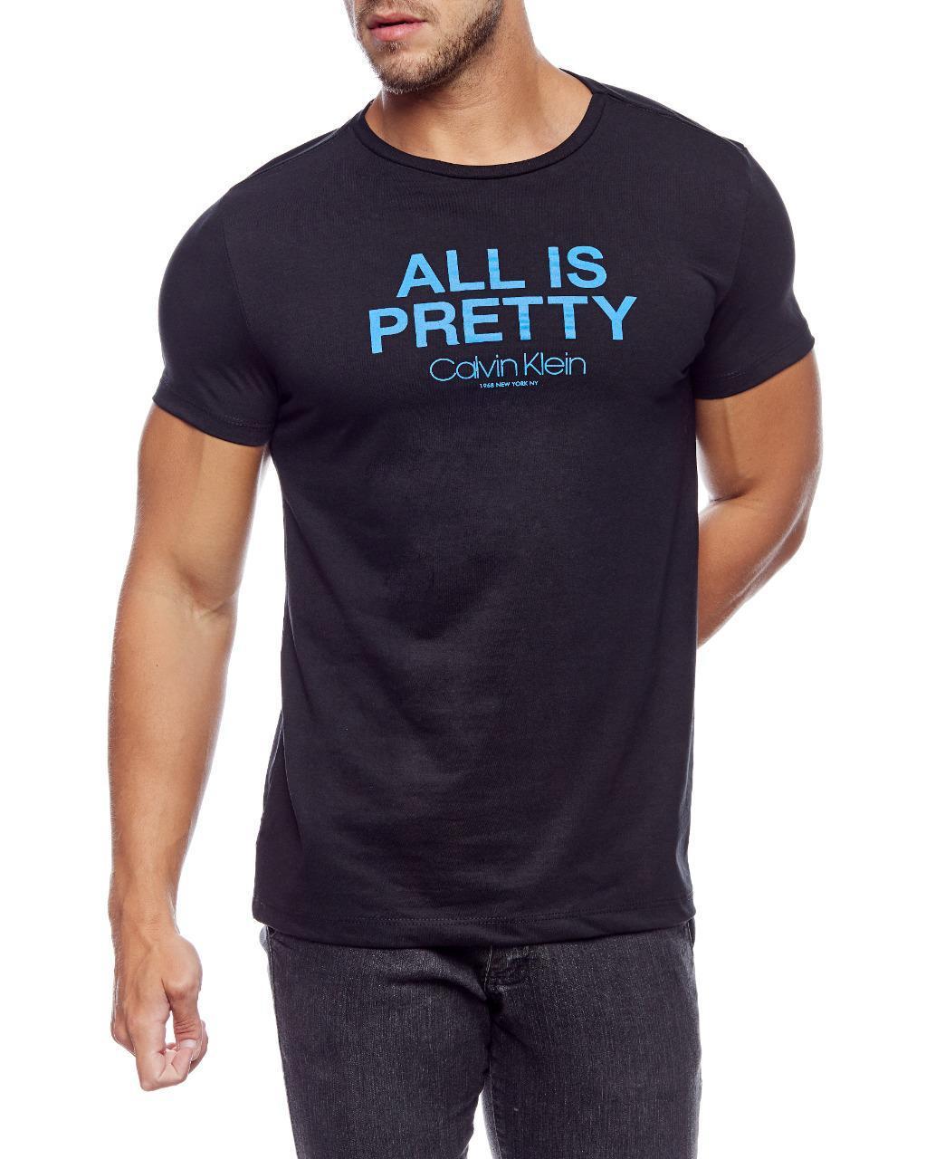 Camiseta Calvin Klein Masculina Regular Fit All Is Pretty New York Preto