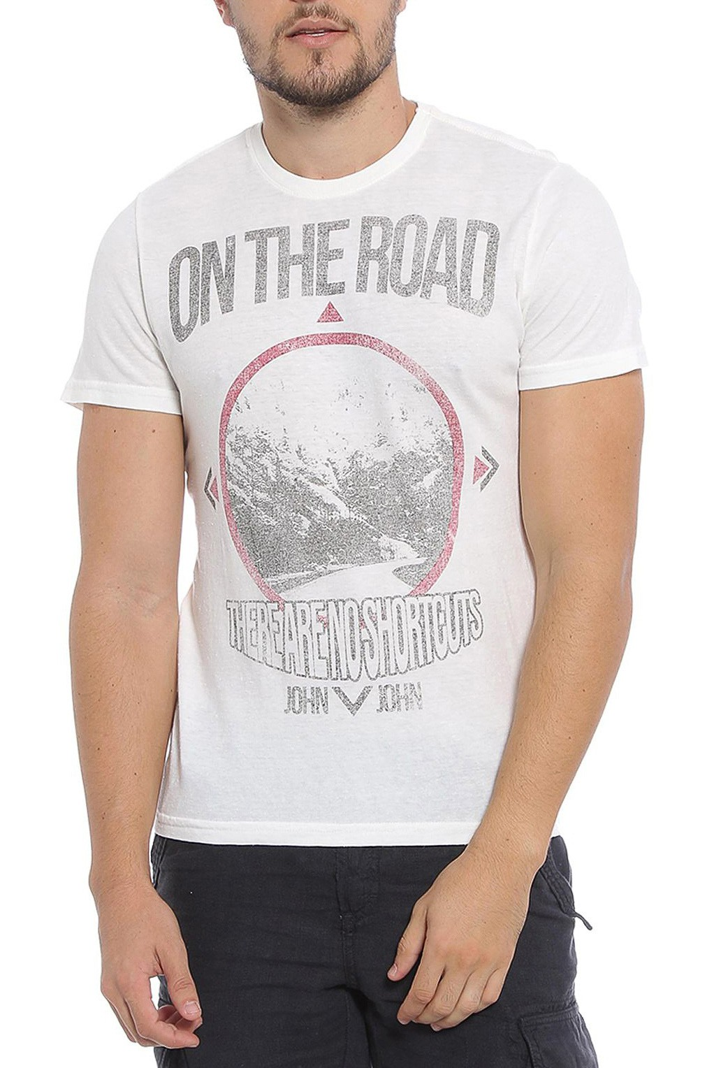 Camiseta John John Masculina RG Shortcuts Off White