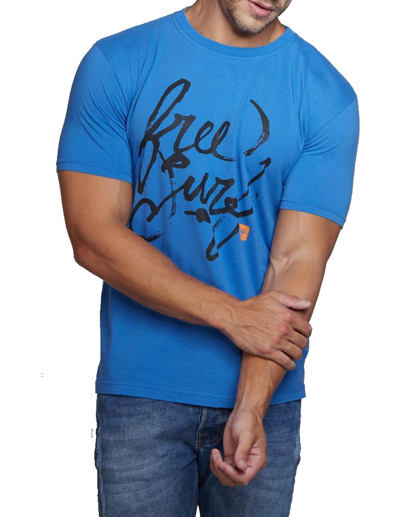 Camiseta Osklen Slim Stone Vintage Free Surf Rot Azul