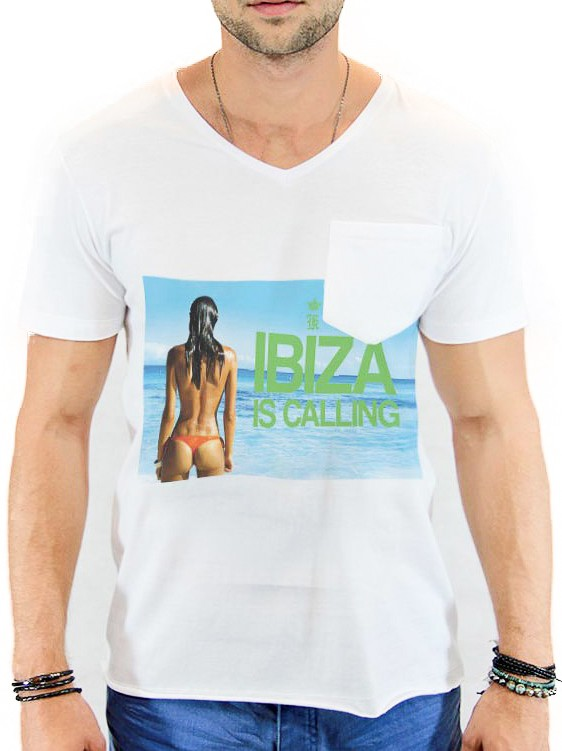 Camiseta Sergio K Masculina Calling Ibiza Branco