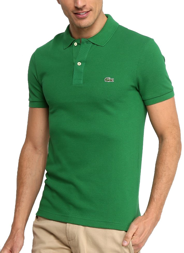 Polo Lacoste Masculina Regular Fit Piquet Verde
