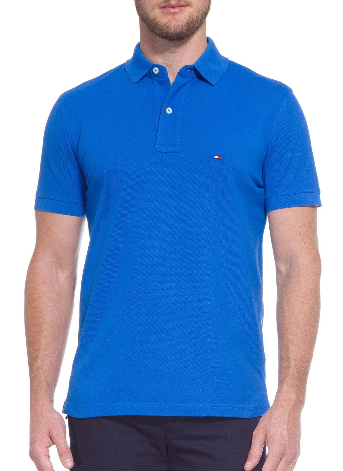 Polo Tommy Hilfiger Masculina Regular Fit Lisa Azul Royal