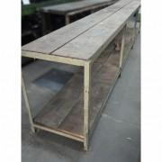 Bancada ferro madeira com Três Vãos – VG746 Usado