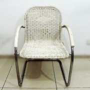Cadeira De Alumínio Trançada Com Fibra Sintética – Bd14 – Usada