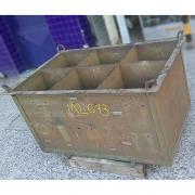 Caixa Container de Aço Reforçada Armazenadora - ML673 Usado