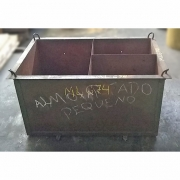 Caixa Container de Aço Reforçada Armazenadora - ML674 Usado