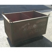 Caixa Container de Aço Reforçada Armazenadora - ML675 Usado