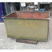 Caixa Container de Aço Reforçada Armazenadora - ML676 Usado