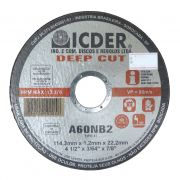 Disco De Corte Deep Cut A60NB2 114,3 x 1,2 x 22,2 mm ICDER