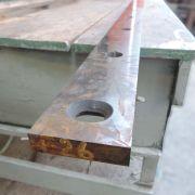 Faca para Guilhotina de Cortar Chapas de Aço AP38 - Usado
