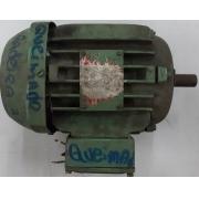 Motor de indução trifásico WEG 1 CV 4 pólos Queimado - VG1432 Usado