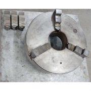 Placa de 3 castanhas auto centrantes para Torno Mecânico - VG590 Usado