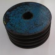 Polia de ferro fundido 230 mm 4 canais perfil C - VG886 Usado