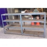 Prateleira de aço e tábuas, reforçada - VG897 Usado