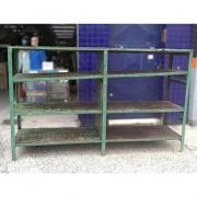 Prateleira Estante de aço com Tampo de madeira - VG1100 Usado