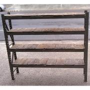 Prateleira Porta Paletes estrutura de ferro com tampo de Madeira - VG1108 Usado