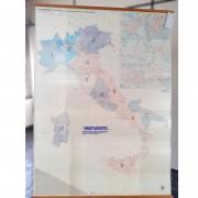 Quadro Mapa Códigos Postais Itália TR28 – Usado