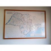 Quadro Mapa São Paulo Comercial Geomapas TR33 – Usado