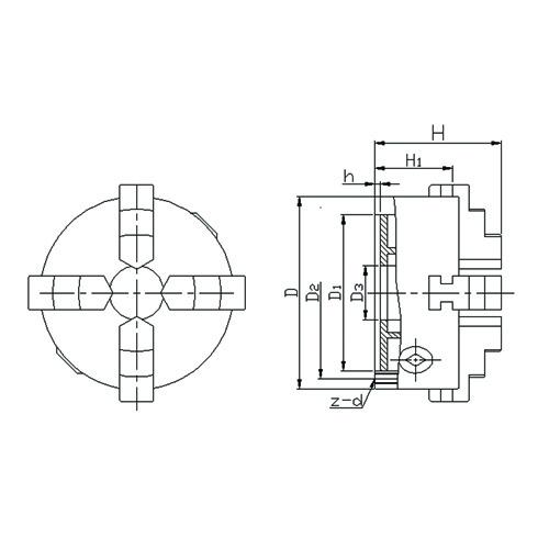 Vega K12325 - Placa Universal de 4 castanhas - 325 mm