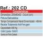 Bancada Tampo 40mm 2 Gavetas Ref.: 202 CD