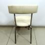 Cadeira Com Armação De Ferro E Estofado De Couro - Bd13 - Usada