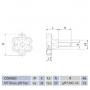 Manípulo Termoplástico Macho MTM 6040 3/8'' X 50