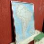 Mapa Da América Do Sul Para Parede – Ba87 – Usado