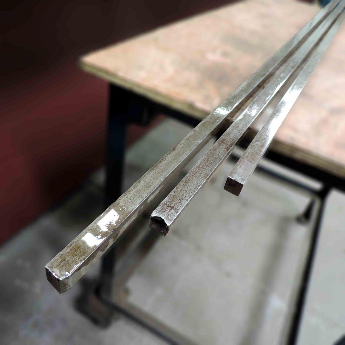 Aço 1.045, Barra Quadrada De 14,2mm X 2,45m - Q9