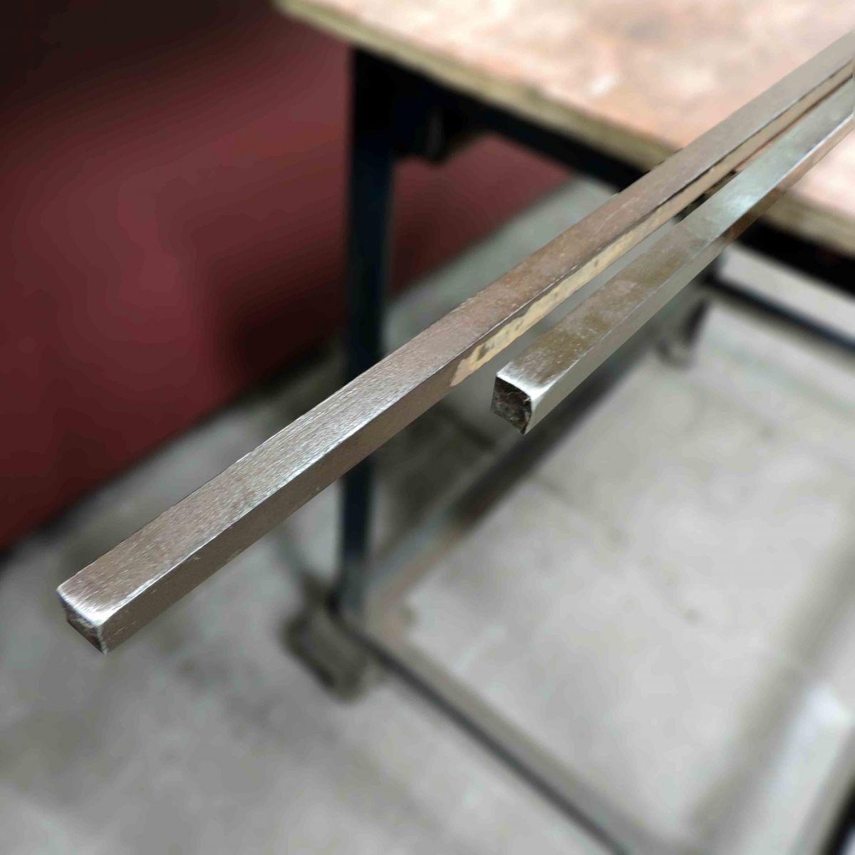 Aço 1.045, Barra Quadrada De ½ X 4,6m - Q7